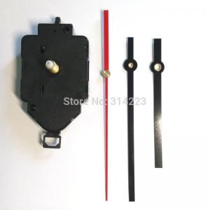 """Sieninio laikrodžio mechanizmas """"Juodoji klasika su raudona rodykle"""" (22mm ašis)"""