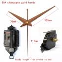 """Sieninio laikrodžio mechanizmas """"Auksinis šampanas"""" (15mm ašis)"""