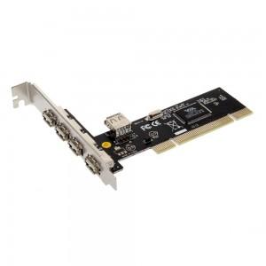 USB 5 lizdų PCI vidinis šakotuvas