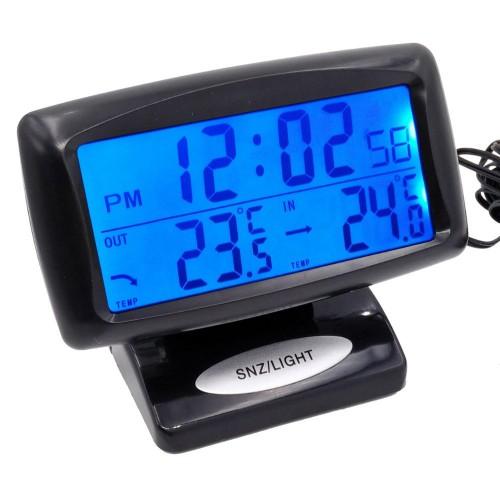 """Automobilio LCD laikrodis - termometras """"Profesionalas 2"""""""