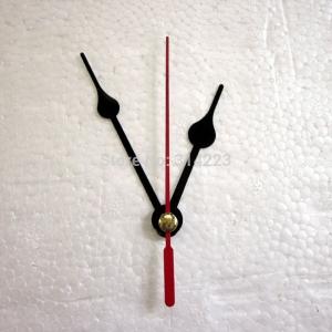 """Sieninio laikrodžio rodyklės """"Juodieji lašai su raudona rodykle"""" (50 vnt.)"""