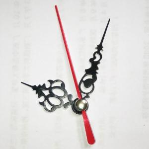 """Sieninio laikrodžio rodyklės """"Juodais raktelis su raudona rodykle"""" (50 vnt.)"""
