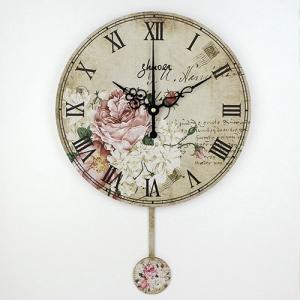 """Sieninis laikrodis """"Gėlių romantika"""" (su švytuokle)"""