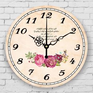 """Sieninis laikrodis """"Gėlės ir poezija"""""""
