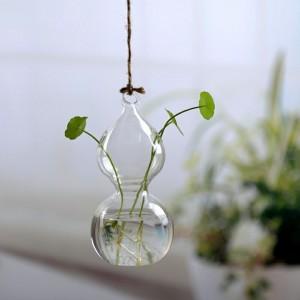 """Pakabinama stiklinė vaza """"Puikioji forma"""" (7 x 14 cm)"""