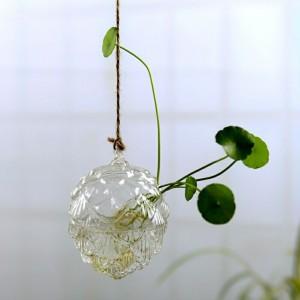 """Pakabinama stiklinė vaza """"Puikusis kankorežis"""" (7.8 x 11 cm)"""