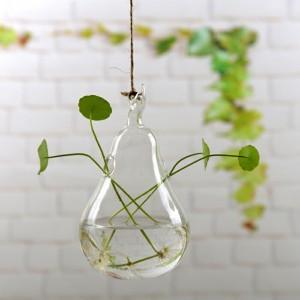 """Pakabinama stiklinė vaza """"Puikioji kriaušė"""" (9.5 x 17 cm)"""