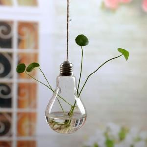 """Pakabinama stiklinė vaza """"Puikioji lemputė"""" (8 x 14 cm)"""