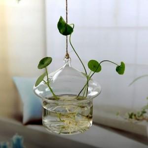 """Pakabinama stiklinė vaza """"Puikusis namas"""" (9 x 11 cm)"""