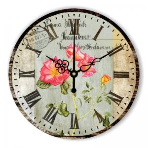 """Sieninis laikrodis """"Meilės rožės niekada nevysta"""""""
