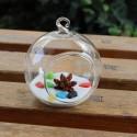"""Pakabinama stiklinė vaza """"Puikusis burbulas"""" (8 x 8 cm)"""