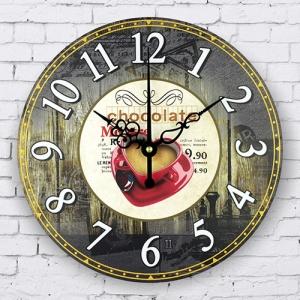 """Sieninis laikrodis """"Myliu, noriu šokolado"""""""