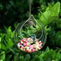 """Pakabinama stiklinė vaza """"Puikusis burbulas 4"""" (10 x 10 cm)"""