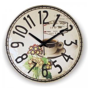 """Sieninis laikrodis """"Kavos puodelis su meile 2"""""""