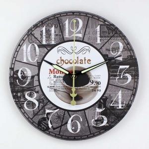 """Sieninis laikrodis """"Myliu, noriu šokolado 4"""""""