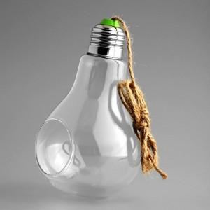 """Pakabinama stiklinė vaza """"Puikioji lemputė 2"""""""