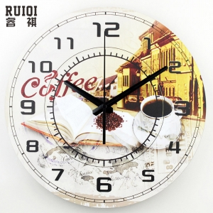 """Sieninis laikrodis """"Senamiesčio kavinės jaukios"""""""