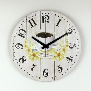 """Sieninis laikrodis """"Kavos puodelis su meile 4"""""""