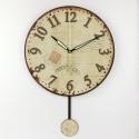 """Sieninis laikrodis """"Laiko ženklai 2"""" (su švytuokle)"""