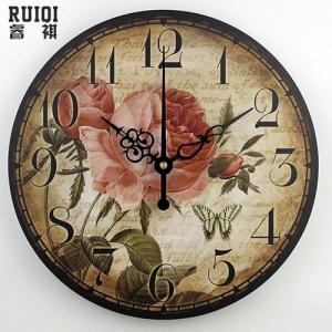"""Sieninis laikrodis """"Romantiškos gėlės"""""""