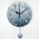 """Sieninis laikrodis """"Meilės lietaus lašai 2"""" (su švytuokle)"""