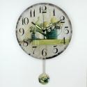 """Sieninis laikrodis """"Nuostabus žalumynų pasaulis 2"""" (su švytuokle)"""