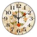 """Sieninis laikrodis """"Nuostabus gėlių ratas"""""""