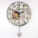 """Sieninis laikrodis """"Meilė 3"""" (su švytuokle)"""