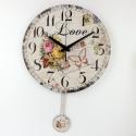 """Sieninis laikrodis """"Meilė 4"""" (su švytuokle)"""