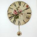 """Sieninis laikrodis """"Nuostabi rožė 2"""" (su švytuokle)"""