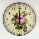 """Sieninis laikrodis """"Meilės rožė ir drugelis"""""""