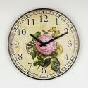 """Sieninis laikrodis """"Meilės rožė ir drugelis 2"""""""