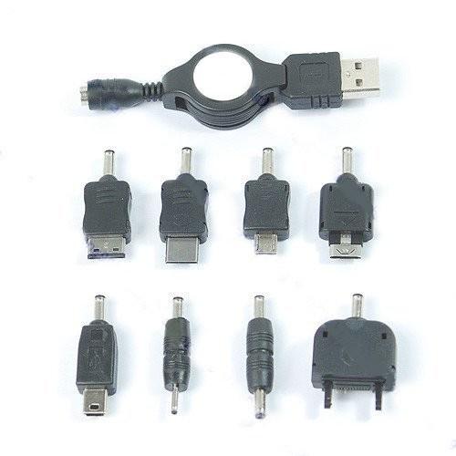 Įkroviklis telefonams, 8 siejikliai (adapteriai)