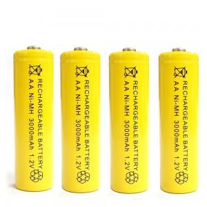 4 įkraunamos 1800mAh AAA baterijos