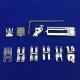 """Siuvimo mašinų """"Phaff"""" ir """"IDT"""" priedų rinkinys (10 vnt. + tvirtinimo mechanizmas)"""