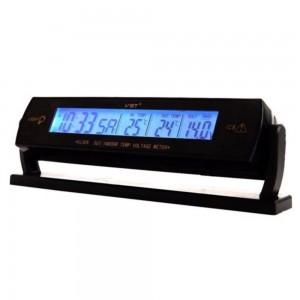 """Automobilio LCD laikrodis - termometras """"Tikslumas 5"""""""