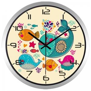 """Sieninis laikrodis """"Nuostabiosios spalvotosios žūvelės"""""""