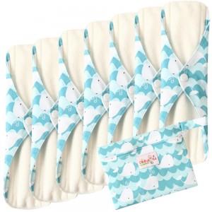 """Daugkartinio naudojimo higieniniai įklotai """"Bella Premium White 2"""" (7 vnt.)"""