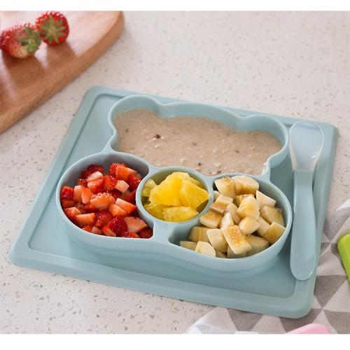 """Vaikiškas silikoninis pietų padėkliukas """"Koalos stilius 2"""" (eko draugiškas)"""