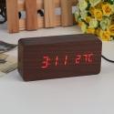 """Laikrodis """"Medžio stilius"""" (rudas+raudonas)"""