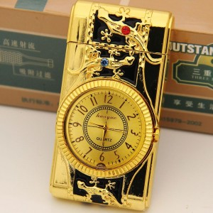 """Laikrodis žiebtuvėlis """"Auksinės salamandros"""""""