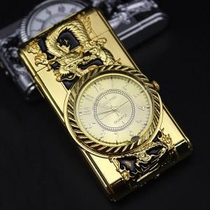 """Laikrodis žiebtuvėlis """"Auksinis drakonas"""" (atsparus vėjui)"""