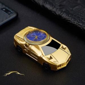 """Laikrodis žiebtuvėlis """"Auksinis automobilis 5"""" (atsparus vėjui)"""