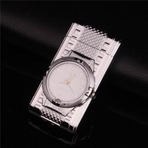 """Laikrodis žiebtuvėlis """"Sidabrinis žiebtuvėlis 3"""" (atsparus vėjui)"""