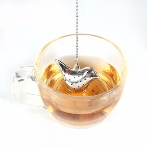 """Plieninis arbatos sietelis """"Paukštukas"""""""
