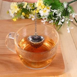 """Plieninis arbatos sietelis """"Meilės širdelė"""""""