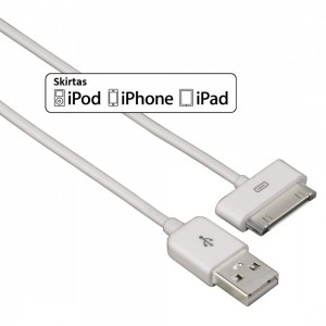 USB kabelis iPhone, iPad, iPod