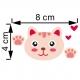 """Lipdukas """"Katinas"""" (4 x 8 cm)"""