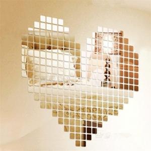 """Veidrodiniai lipdukai """"Meilės širdelė"""" (100 vnt.)"""