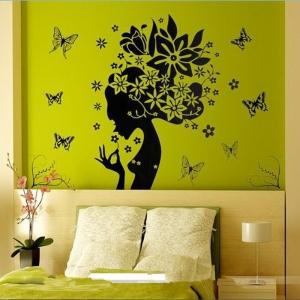 """Lipdukas """"Gražuolė ir drugeliai"""" (50 x 70 cm)"""